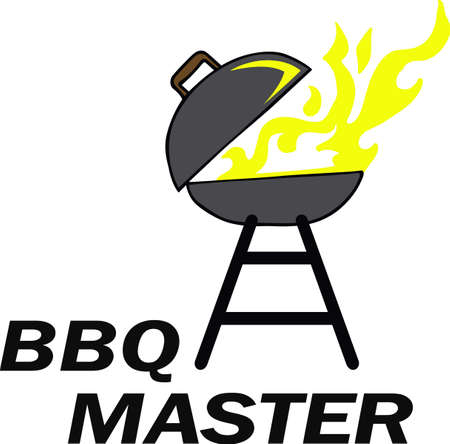 BBQ grillers will love a firey grill on an apron.