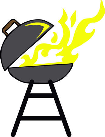 gas barbecue: BBQ grillers will love a firey grill on an apron.