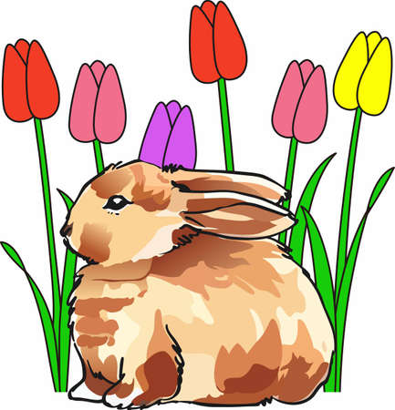 cottontail: A cute bunny is a great spring design.