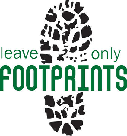 foot path: Leave no trace but a boot print on the trail.  Grab this design from Great Notions.