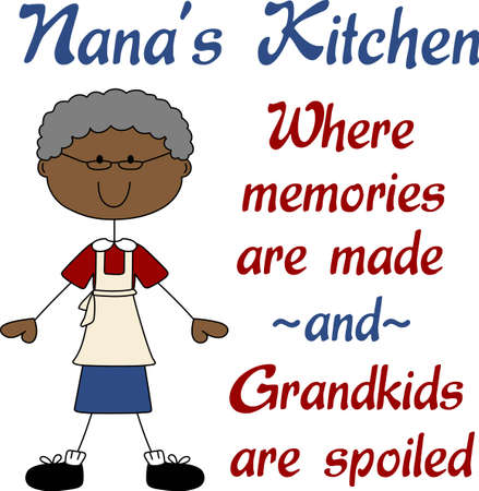 nan: Put a grandmother on a project for a loving cooking design.