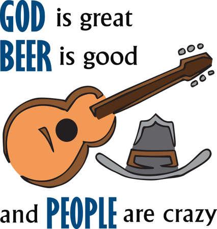国の音楽は、アコースティック ギターで素晴らしいです。  イラスト・ベクター素材