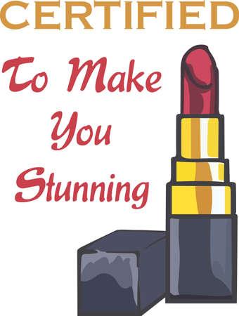 Show off your sense of humor with a sexy lipstick. Banco de Imagens - 45351263