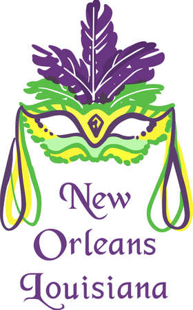 masque: Celebrate Mardi Gras with a colorful mask. Illustration