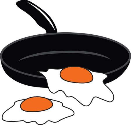 いくつかの大きな目玉で朝の朝食楽しみを作る。