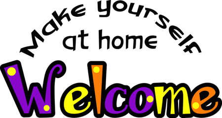 guests: Make a colorful welcome towel for your house guests.
