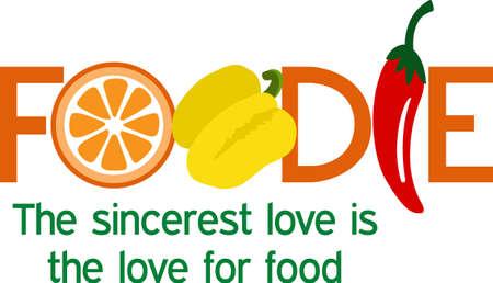 부엌의 과일과 채소로 건강에 좋습니다. 일러스트