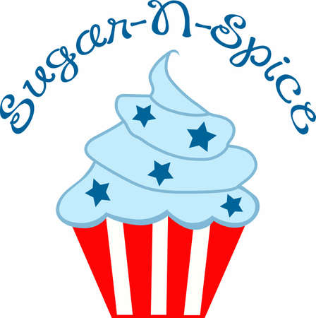 give a gift: Need a unique way to say Happy Independence Day  Give a gift of this adorable cupcake with stars and stripes design.