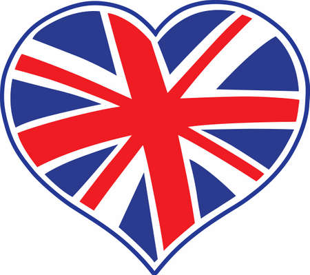jack of hearts: A cute design featuring the union jack flag heart.  The perfect reminder of where youve been.