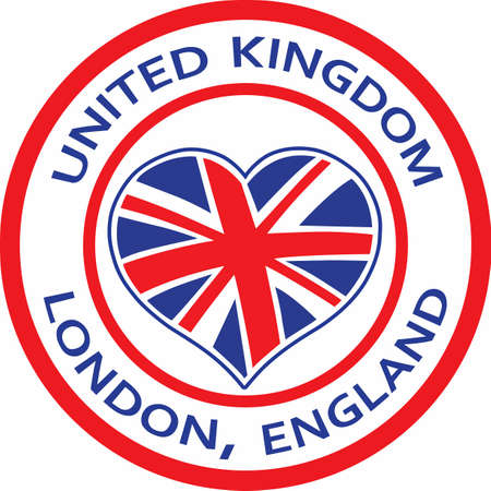 A cute design featuring the union jack flag heart.  The perfect reminder of where youve been.