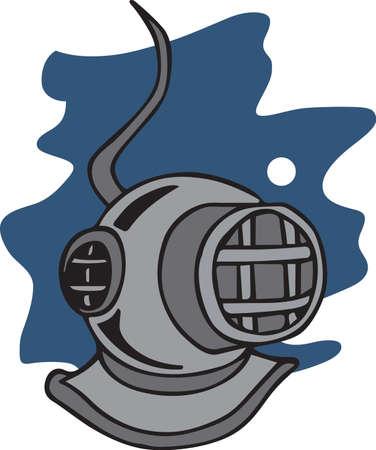ダイバーは、ダイビングのヘルメットとのスポーツのための愛を表示できます。 写真素材 - 45352030