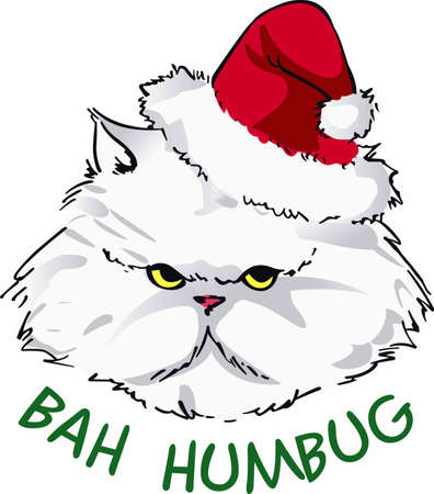 cheer up: Cheer up your holiday dcor with a grumpy Santa cat.