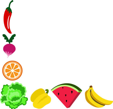 Eat healthy with fruits and vegetables in your kitchen.