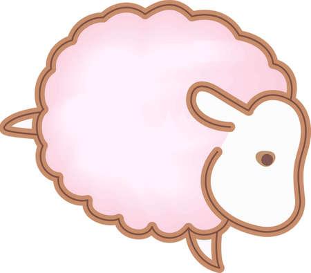 羊は、子供のプロジェクトのための素晴らしいデザインです。羊は、子供のプロジェクトのための素晴らしいデザインです。  イラスト・ベクター素材