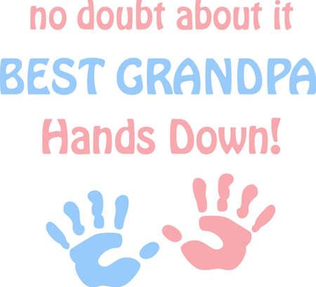 handprint: A cute handprint will make a great childs design. Illustration