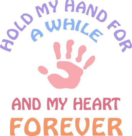 Une empreinte de main mignonne fera la conception d'un grand enfant. Banque d'images - 45352111