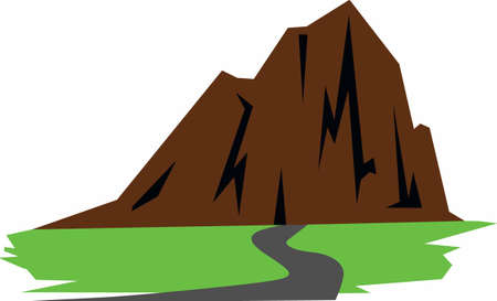 bluff: Use this mountain design on your next project.