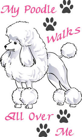 This cute Poodle will be loved by all the kids. Ilustracja