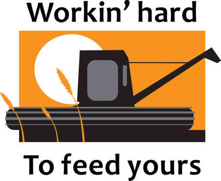 heavy equipment: Beautiful design by Great Notions for supporting all our farmers.