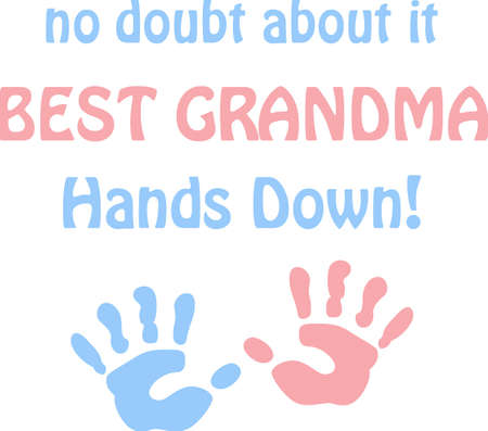 A cute handprint will make a great childs design. Illustration
