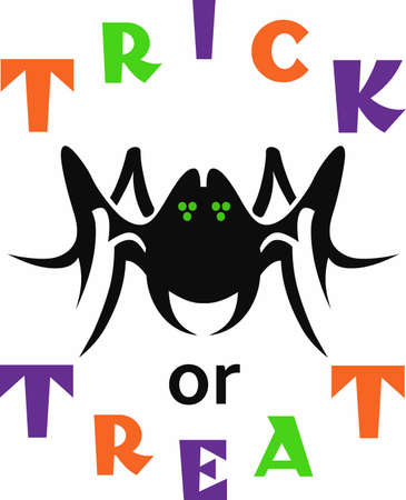 This Little Spider looks great on your next Halloween celebrations