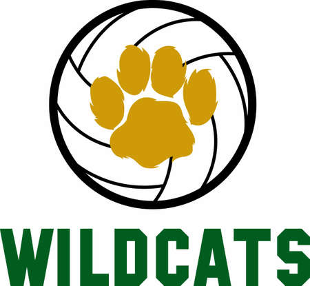 Use this wildcats design on your next Volleyball sport project Illustration