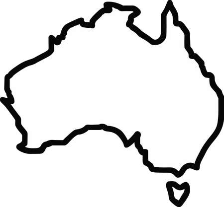 down under: Display your love for travel with a map of another country.
