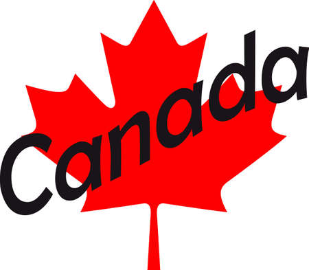 A maple leaf is a classic symbol for Canada.