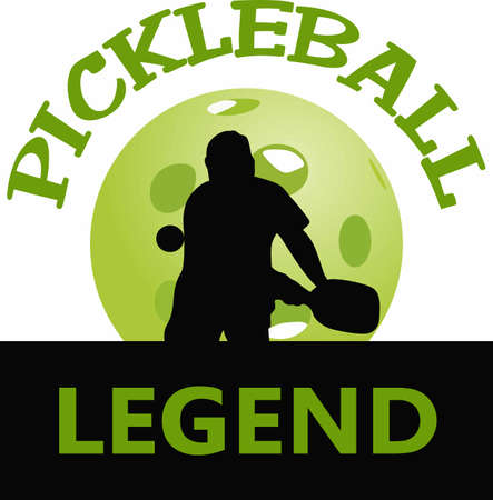 If you know someone who likes to play pickelball they will enjoy this design. Ilustracja