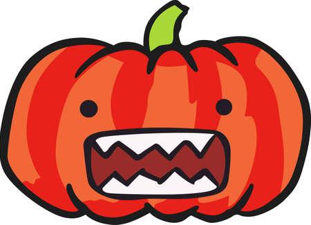 jack o' lantern: A jack o lantern is a fun halloween decoration. Illustration