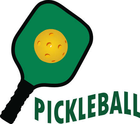 likes: If you know someone who likes to play pickelball they will enjoy this design. Illustration