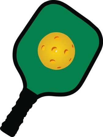 당신이 pickelball 재생 좋아하는 사람을 알고 있다면 그들은이 디자인을 즐길 수 있습니다.