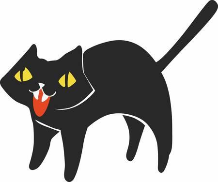 A black cat is fun on halloween.