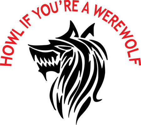 creature of fantasy: A werewolf is a wonderful fantasy creature.