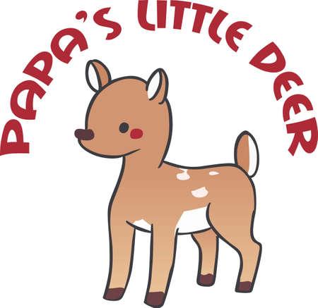 Children will like a sweet little fawn.