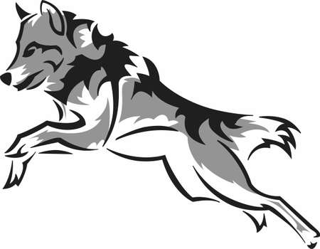 lupus: The strength of the wolf is the pack and the strength of the pack is the wolf. Illustration