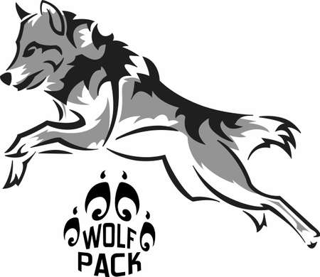 dingo: The strength of the wolf is the pack and the strength of the pack is the wolf. Illustration