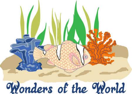 Stuur uw kleintje naar dromenland met de wonderen van de wereld. Perfect voor de kinderkamer! Stock Illustratie