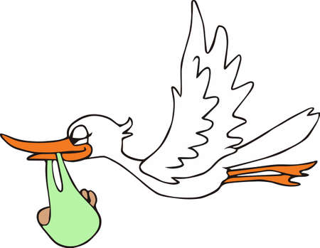 dcor: A cute stork is a classic new baby dcor.