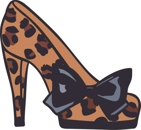 high heel shoe: Show off your fashion style with a beautiful high heel shoe. Illustration