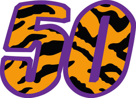 50 years old: Display your pride in turning 50 years old.