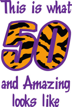Display your pride in turning 50 years old.