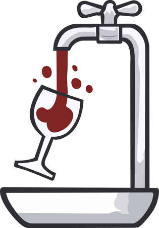 Wine drinkers will enjoy this funny drinking design.
