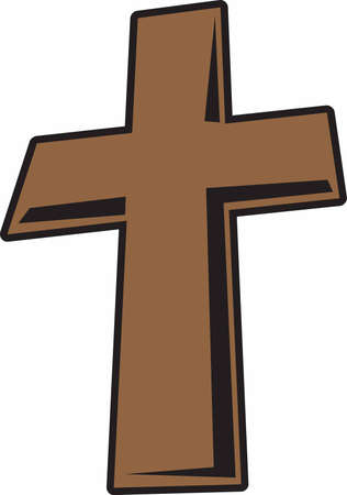 The cross represents Christ because of his Crucifixion and Resurrection pick those designs by Great Notions!