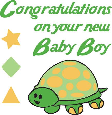 amphibian: A cute turtle is an adorable design.