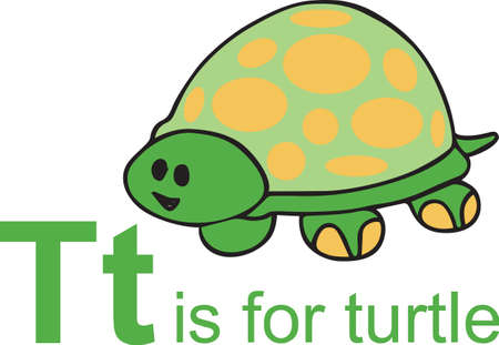 A cute turtle is an adorable design.