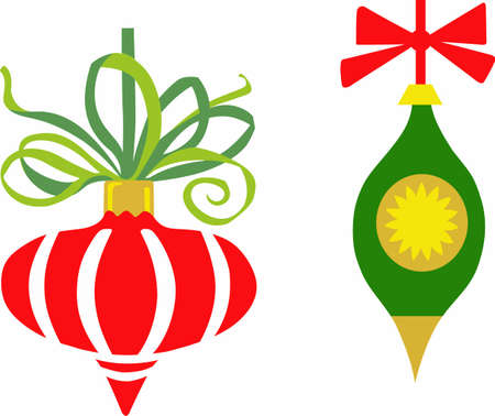 riband: Send holiday cheers with these beautiful Christmas ornaments. Pick those designs by Great Notions! Illustration
