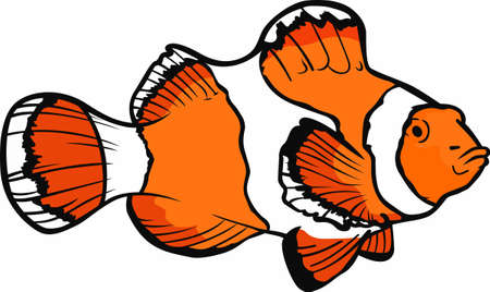 clownfish: Clownfish make my day brighter.  Another cute design from Great Notions. Illustration