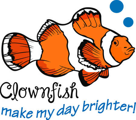 make my day: Clownfish make my day brighter.  Another cute design from Great Notions. Illustration