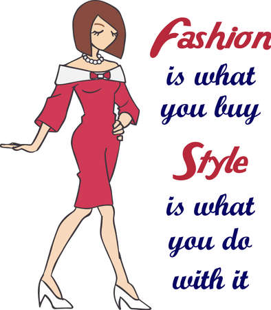 Deze mooie dame zal sprankeling te geven aan een mode-project. Stock Illustratie